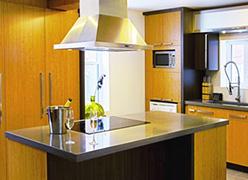 Armoires de cuisine en placage de bois